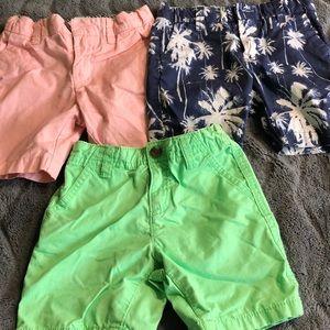 Set of 3- boys summer shorts